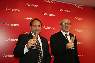 Renato Pascowitch, diretor executivo e José Efromovich, presidente da Avianca Brasil