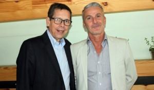 Cassio Oliveira, diretor-executivo da AirTKT, e Mario Ponticelli, contry manager da Amadeus