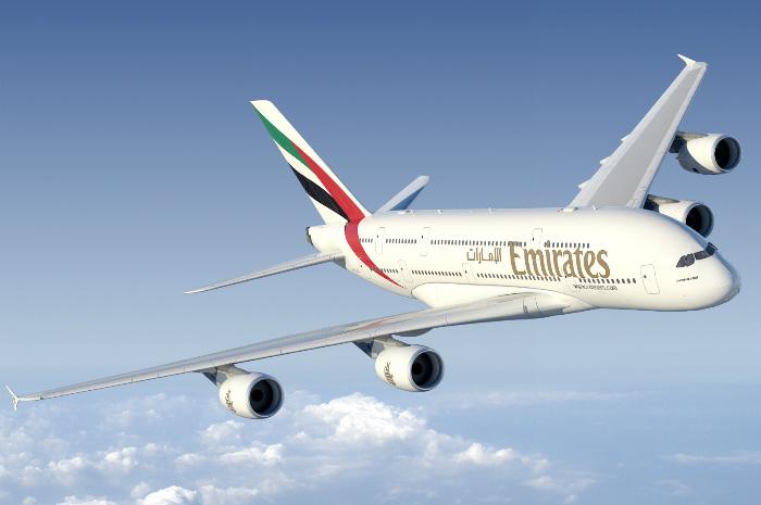 Emirates A380 - Foto: Divulgação Emirates Airline
