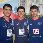 Anselmo da Costa, Anselmo Juior, e Vinicius da Costa, da American Travel