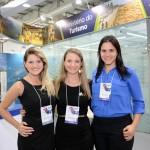 Brena Ferreirae Cinthia Marques, do MTur, e Vanessa Garmes, da Empetur