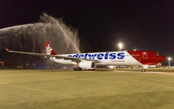 Edelweiss chega ao Rio e faz história com início de operações no Brasil; veja vídeo
