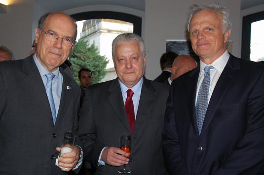 Fernando Pinto, Mario Carvalho e David Neeleman, da Tap