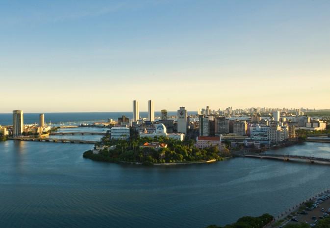 Vista aérea da cidade de Recife (Foto: Rafael Medeiros)