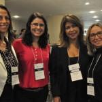 Márcia Motta e Thereza Calegari da Decolar, Rosângela Gonçalves da Rede Windsor, Cristina Grahn da Compass Brasil