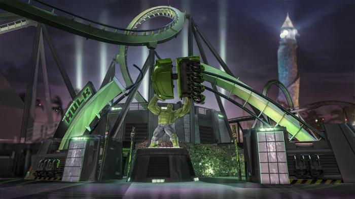 The Incredible Hulk Coaster (Divulgação Universal Orlando)