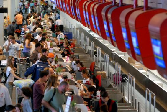 Aeroporto Santos Dumont, no Rio de Janeiro, um dos mais movimentados do país