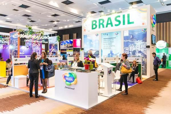 Estande do Brasil na 8ª FIEXPO, realizada em 2015