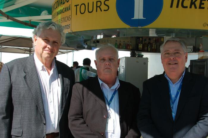 Luiz Henrique Garcia, diretor de Marketing, Sergio de Mello Ferreira, diretor de Operações, e Cesar Augusto Werneck, diretor de Planejamento e Projetos da Setur-RJ