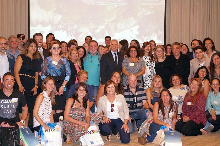 Profissionais de turismo da América Latina e expositores da Barra da Tijuca. Imagem: Divulgação