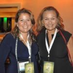 Sheila Herschberg, da Kaluah Tour, com Marianna Silva, da Personal RGE Tours