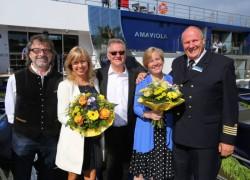 AmaWaterways batiza seus dois novos navios na Alemanha