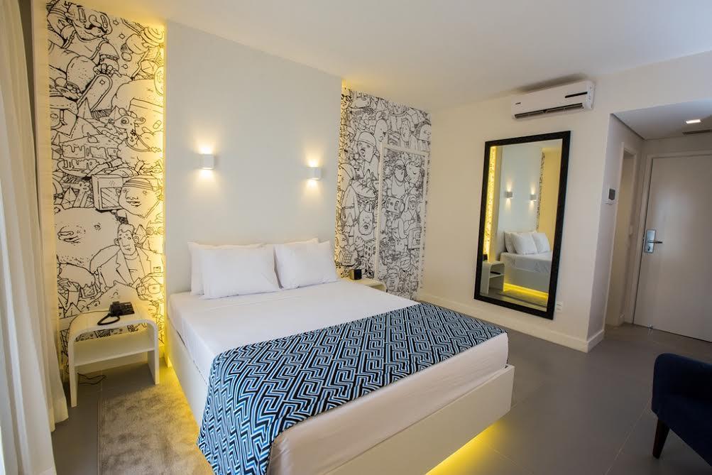 Um dos apartamentos do Zii Hotéis