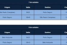 """Semana do Saco Cheio"": Azul terá voos extras para Porto Seguro"