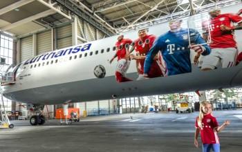 Lufthansa homenageia Bayern de Munique com pintura especial do A340; veja fotos
