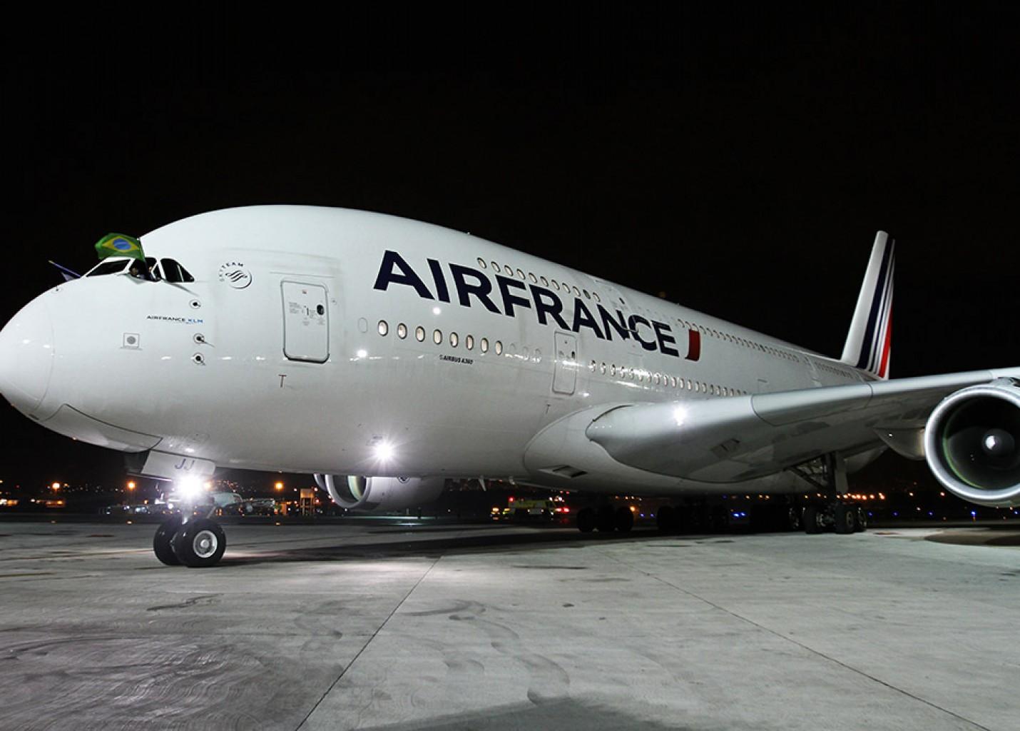 Air France traz ao Rio pela primeira vez o A-380 para levar delegação da França