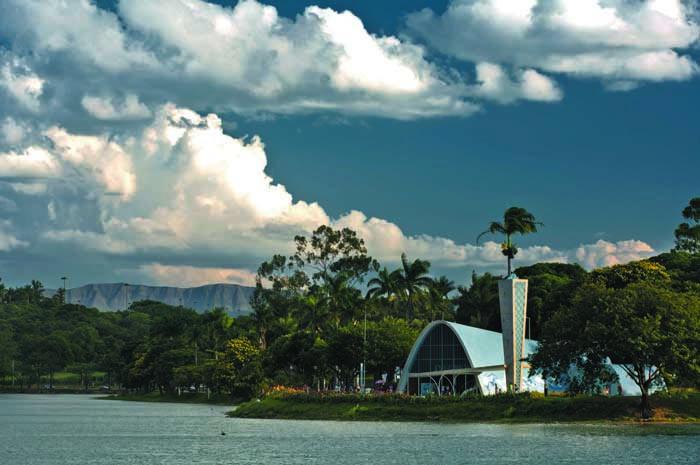 Lago da Pampulha, em BH, é considerado Patrimônio Cultural da Humanidade (Foto: Marcelo Rosa)