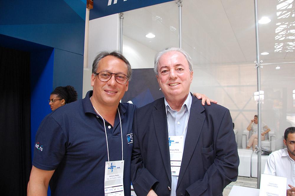 Os secretários Antonio Pedro Figueira de Melo e Nilo Sérgio Felix