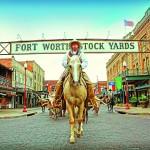 Mais um ângulo de um desfile em Fort Worth