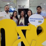 Anderson Masetto, do M&E, com Juliana Assumpção,  Kelly Costange, Aline Haranaka e Danilo Nonato, da Aviesp