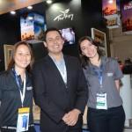Fernanda Harada, Douglas Araujo e Esra Serpen Coelho, da Turkish Airlines