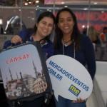 Fernanda  Rocha, da Aprecesp ganhou a mala da Lansay no último dia da Abav Expo