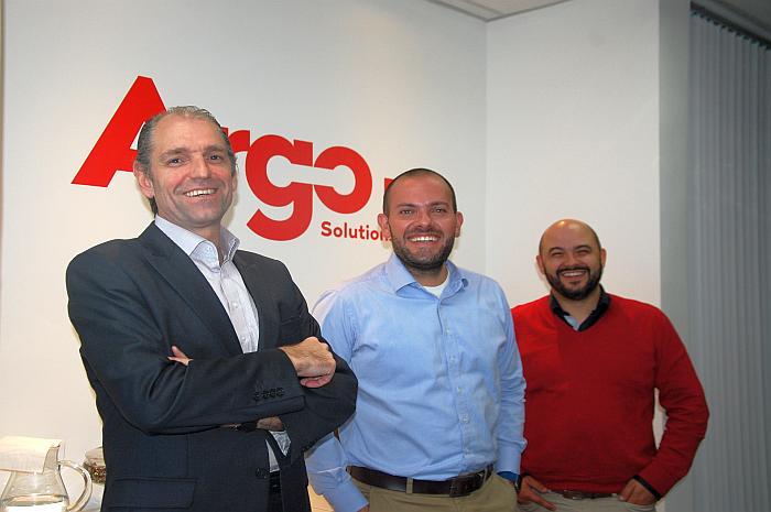 Luigi Botto, diretor geral, Alexandre Arruda, diretor de Operações, e Danilo Gonçalves, gerente de relacionamento, todos da Argo