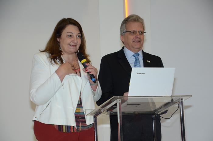 Magda Nassar e Edmar Bull