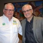 Roy Taylor, do M&E, com Tarcísio Gargioni, ex-Avianca
