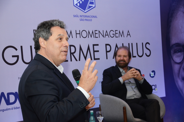 Luiz Falco, presidente da CVC, com o fundador Guilherme Paulus