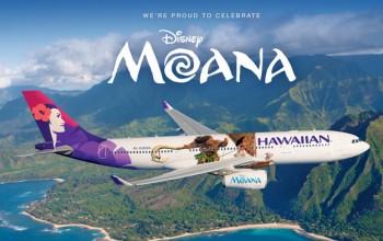 Hawaiian Airlines revela pintura especial de nova animação da Disney; veja fotos e vídeos