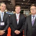Felipe Carreras, secretário de Turismo, Esportes e Lazer de PE, Marx Beltrão, Ministro do Turismo, e Vinicius Lummertz, presidente da Embratur