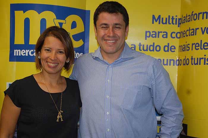 Giselle Makinde, do Escritório de Turismo de Curaçao, e Mauricio Almonacid, do Sant Barbara Resort