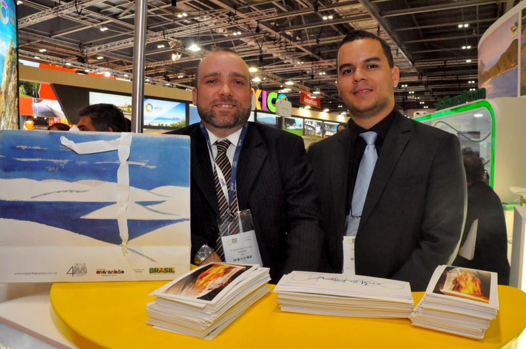 Hugo Veiga, secretário adjunto de Turismo, e Diego Araujo, secretário de Cultura e Turismo do Maranhão
