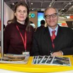 Juliane Salvadori, secretária de Turismo de Bonito, e Marcos Dias Soares, presidente da Comissão Nacional de Turismo de Bonito