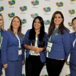 Loanna Lucenna, Rita Castelan, Lohanna Januth, Manuela Oliveira e Beatriz Arakaki, da Embratur
