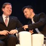 Marx Beltrão, então ministro do Turismo, e Marcus Rossi, do Festuris, em 2016