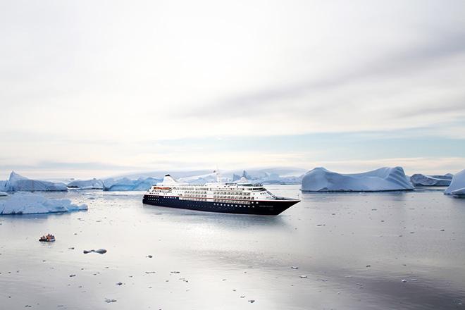 O novo navio Silver Cloud, da Silversea