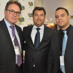 Vinicius Lummertz, presidente da Embratur, Ruy Gaspar, secretário de Turismo do RN, e Diego Araujo, secretário de Cultura e Turismo do MA