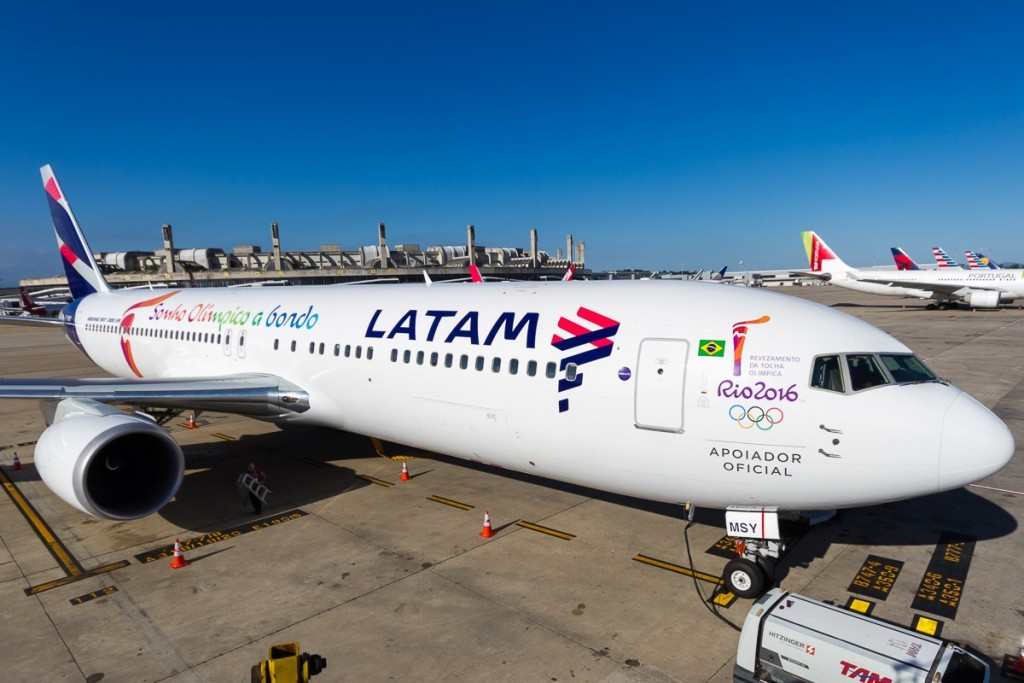 Boeing 767 da Latam foi adaptado para o transporte de cargas