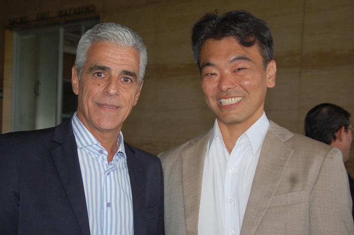 Marcos Balsamão, da Abav-SP, e eduardo Kina, da Alatur JTB