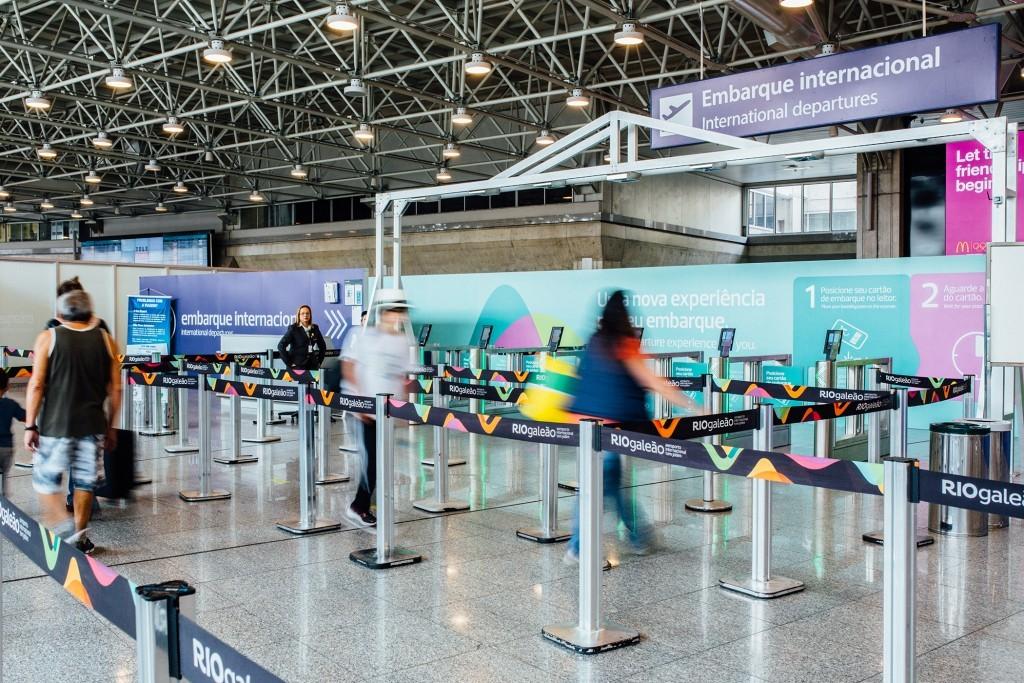 Área de embarque internacional do aeroporto RioGaleão (Foto: Divulgação)