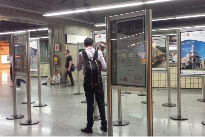 Exposição fotográfica é aberta ao público e pode já pode ser vista na estação Paraíso da linha 1-Azul (Foto: Divulgação)