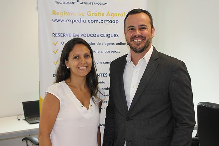 Mariana Garcia, da Expeedia TAAP e João Taylor, do M&E