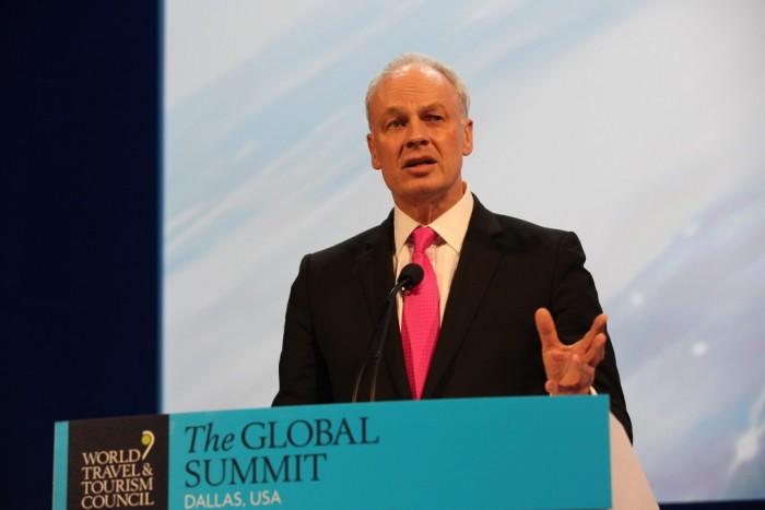 O Presidente e CEO da WTTC, David Scowsill, disse que o decreto anti-imigração afronta a liberdade de viajar (Foto: Flickr WTTC)