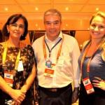 Monique Abrahão, José Pereira e Vanessa Cristani, da Discover Cruises
