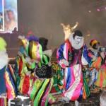 Palhaços, destaque da cultura pernambucana, se apresentaram no palco principal