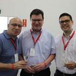 Amjad Nashashi, da Swiss Quality Hotels, Markus Largier, do Turismo de Berna, e Fernando Aquino, do Turismo de Jungfrau