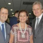 Antonio Azevedo e Edmar Bull com Teté Bezerra, do MTur