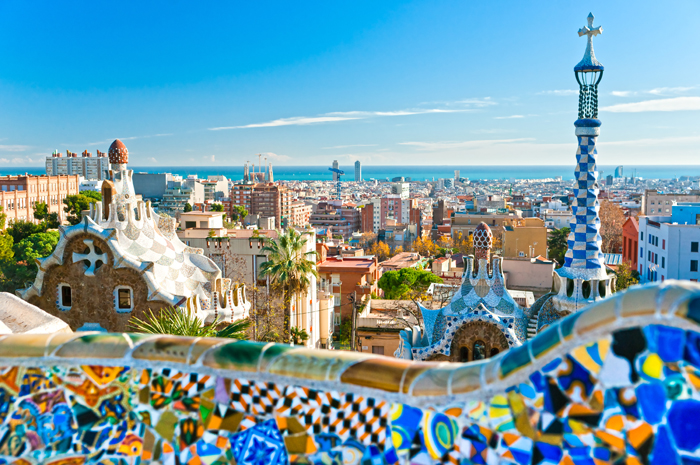 Park Guell, em Barcelona.